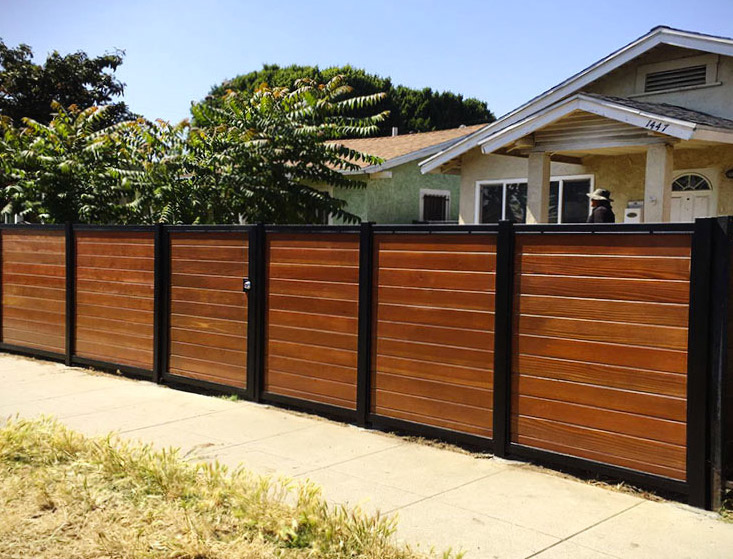 Black:Brown Wood Privacy Fence Mission Viejo CA