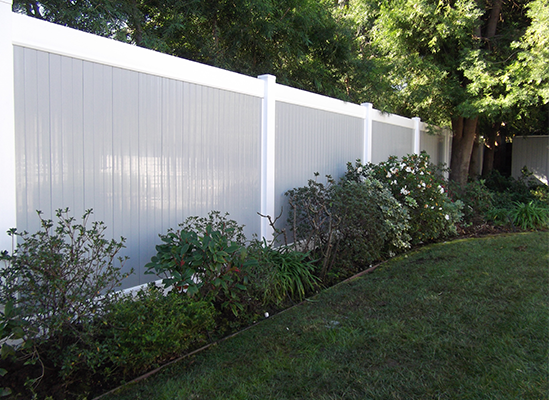two tone vinyl pvc fence Mission Viejo ca